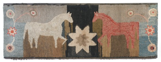 magdelena horses original antique rug