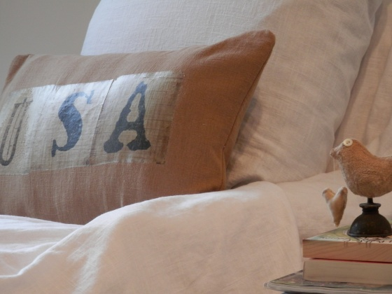 usa pillow and little birdie