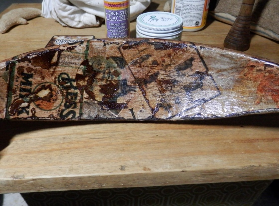distressed, crackled and antiqued