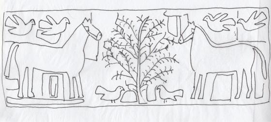 2 horses 6 birds