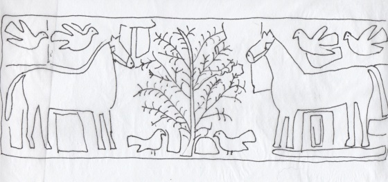 2 horses 6 birds, reversed