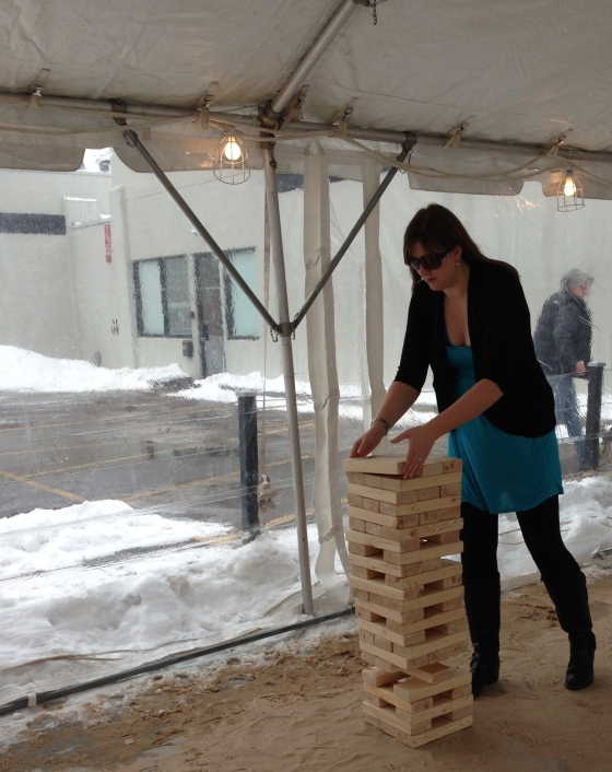 jenn and giant jenga