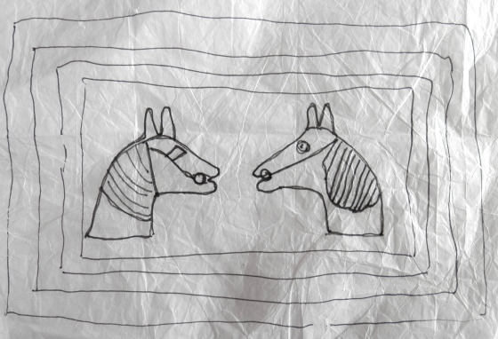"""two horses"" pattern"