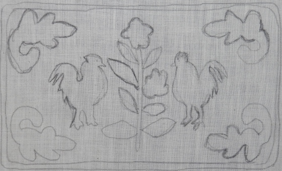 2 chickens pattern